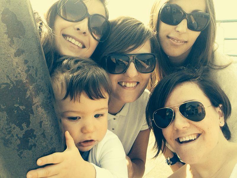 da sinistra: io, Daniel, Romina, Silvia e Debora