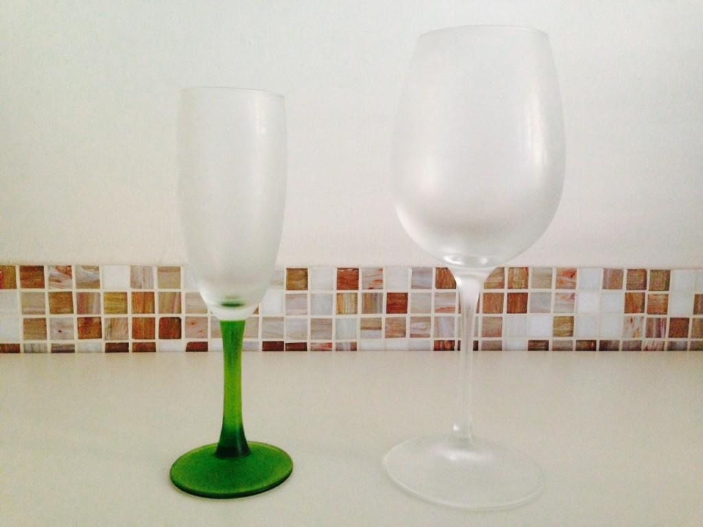 Bicchieri ghiacciati