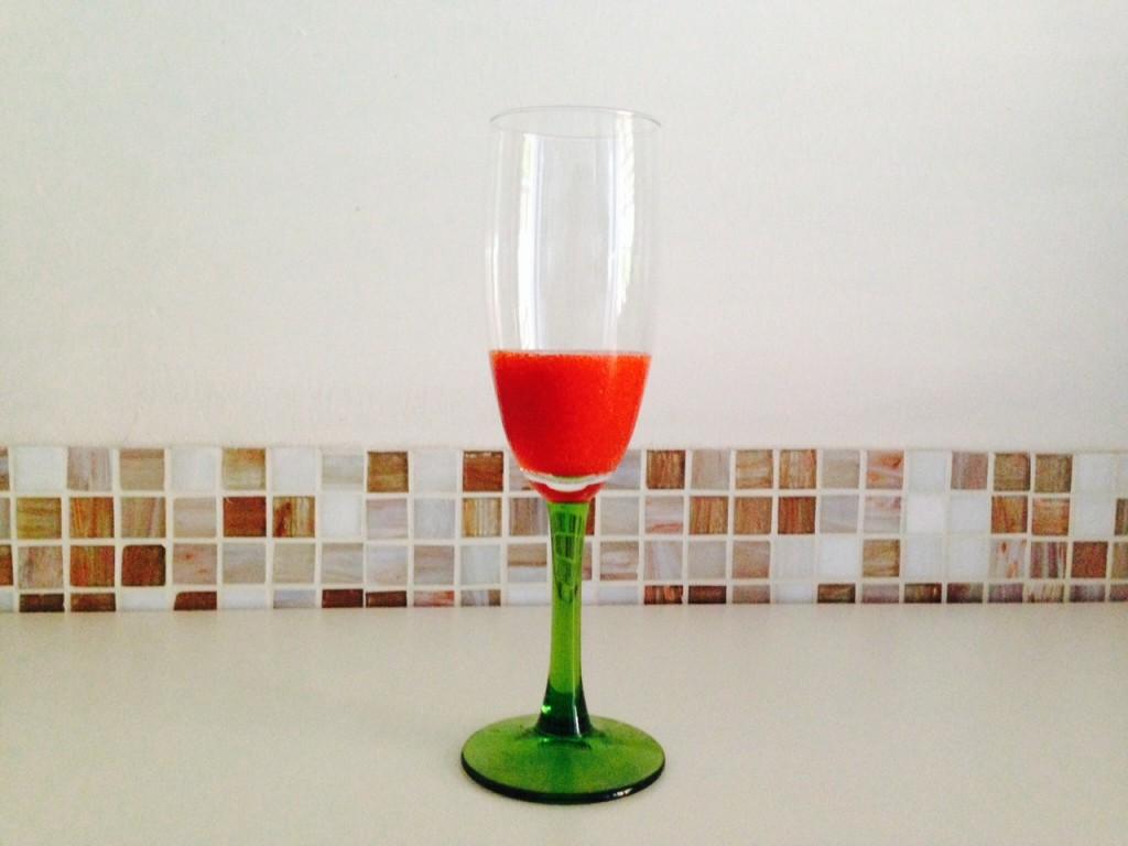 Mettete la purea nel bicchiere