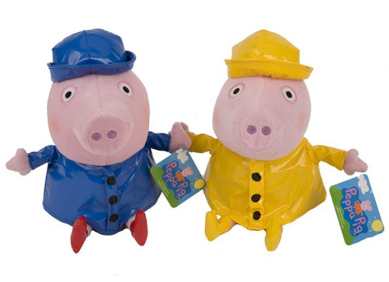 peppa e george impermeabile