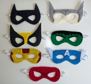 party masks superhero