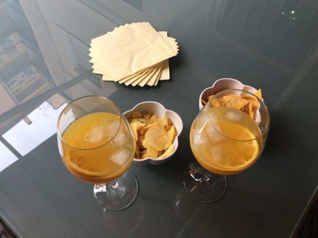 martini con succo di arancia.
