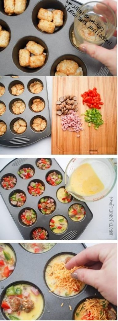Mini tortillas di patate, peperone, funghi e cotto. Ph. Credits Pinterest