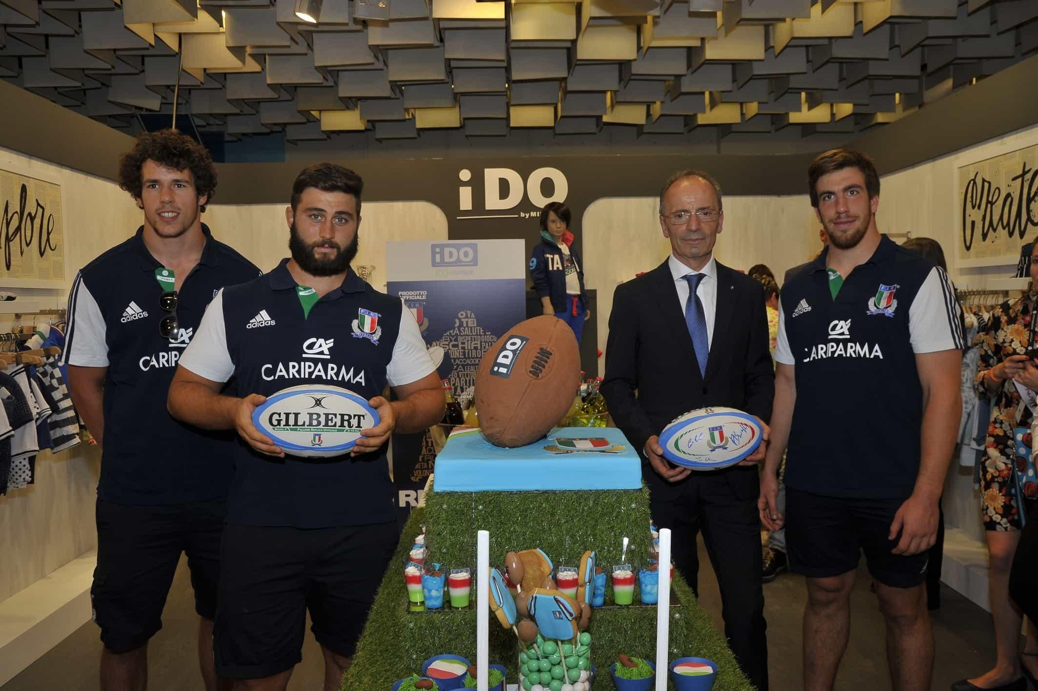 A Pitti Bimbo 81 l'evento iDO con la Nazionale Under 20 di Rugby