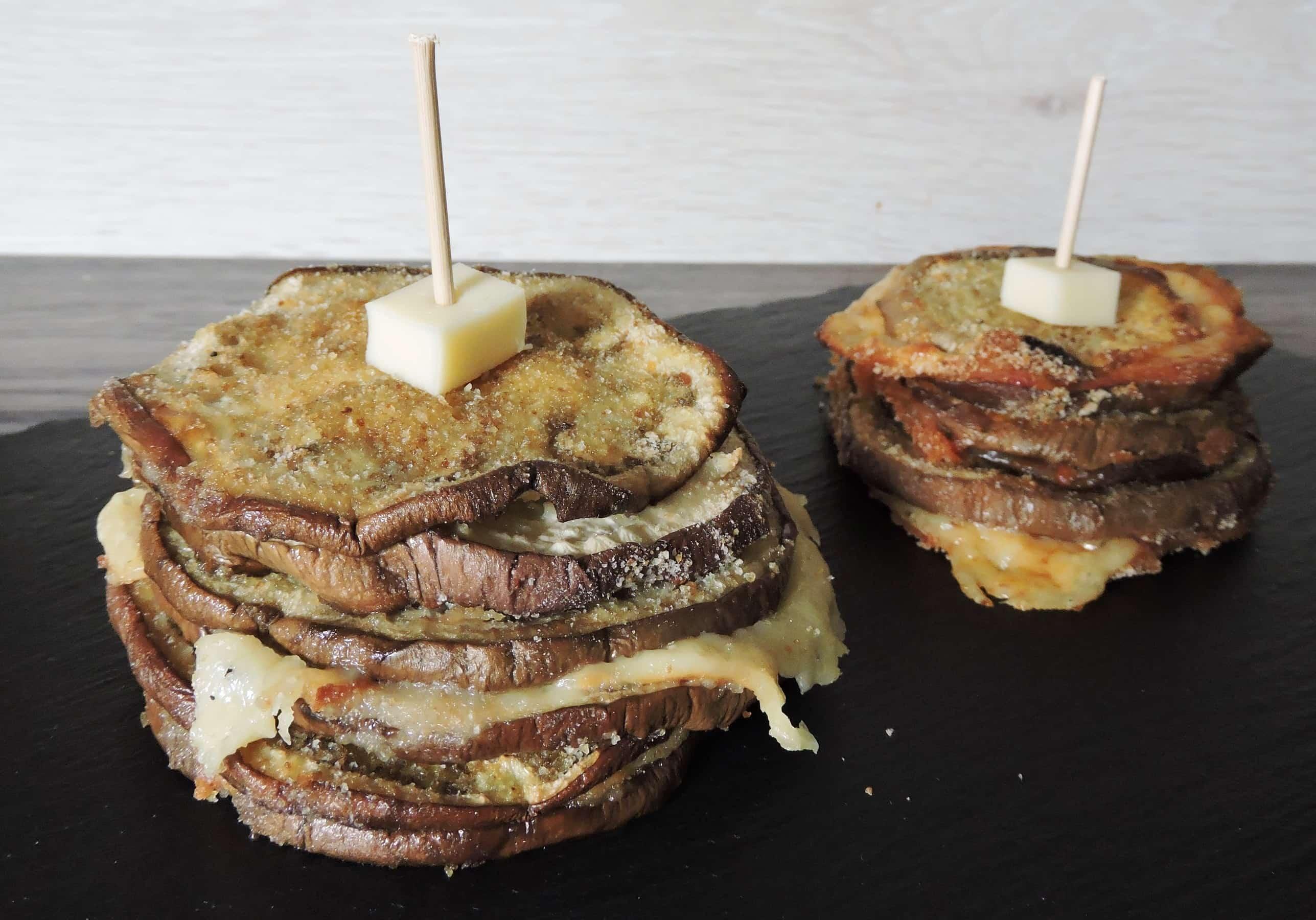 sandwich doppio di melanzane