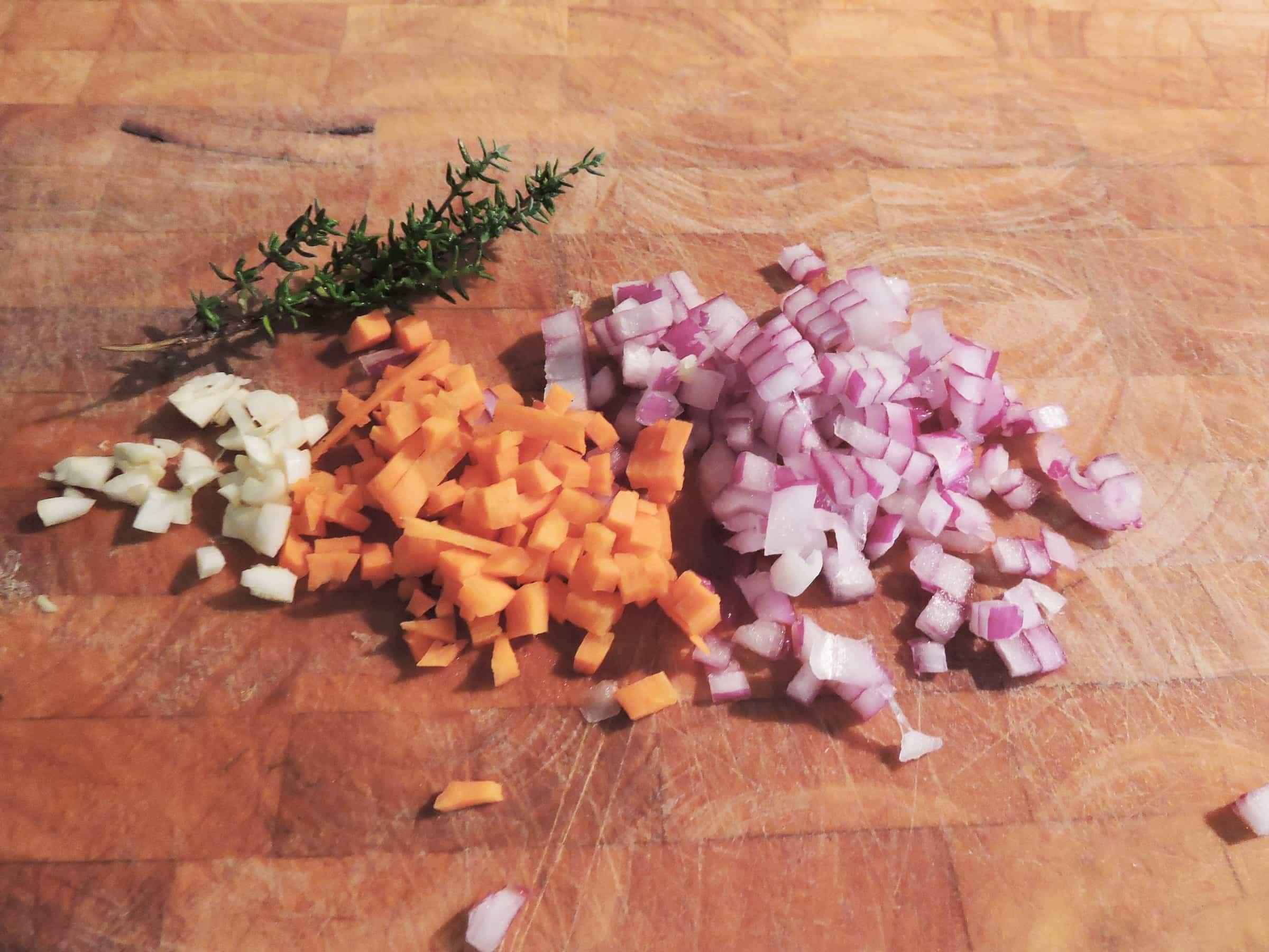 odori per il ragù di lenticchie