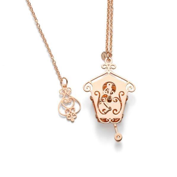 Iconoclass Cucù pendente argento oro rosa finitura lucido GC002BD-GP_1. piccolo euro 159. grande 189