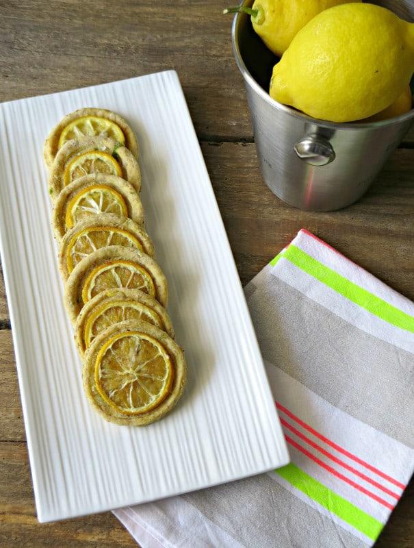 biscottini salati al limone