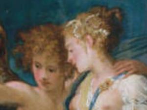 Andrea Schiavone, Nozze tra Cupido e Psiche, 1550 circa, New York, Metropolitan Museum of Art, dett.