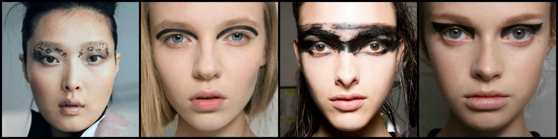 collage occhi tribale
