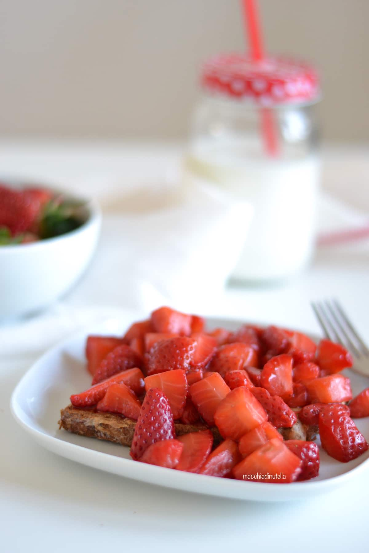 French Toast alle fragole rivisitato by @macchiadinutella