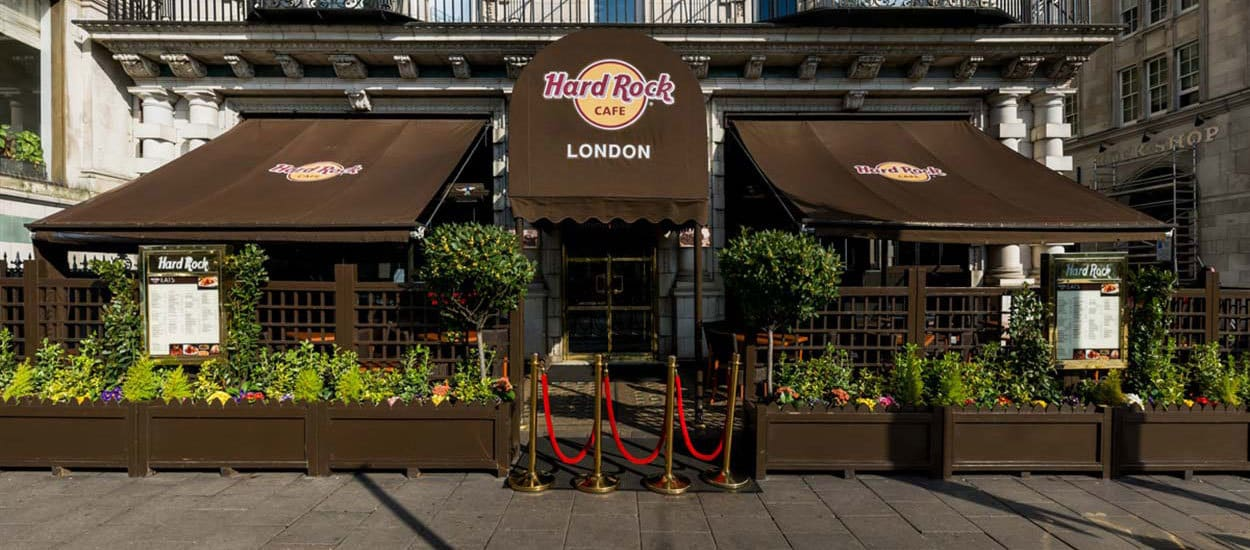 Entrata dell'Hard Rock Cafe di Londra