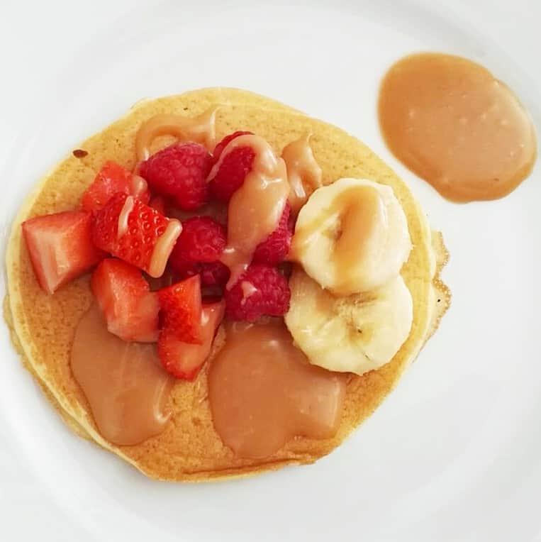 Pancake con caramello salato