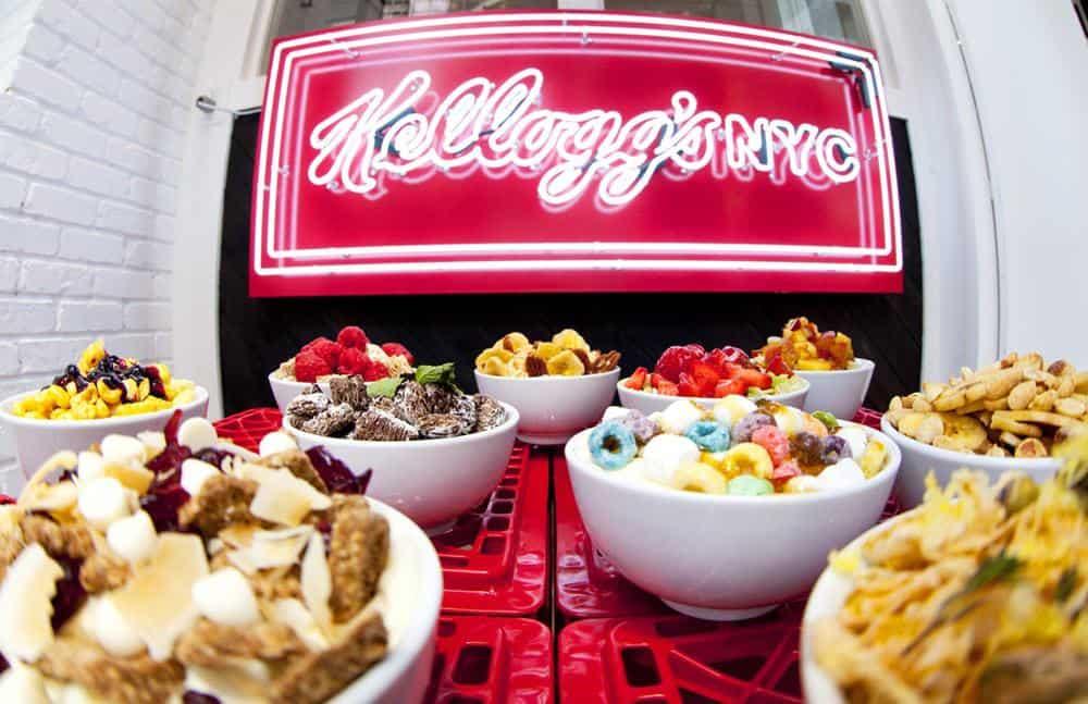 Una colazione con i fiocchi da Kellogg's a New York.