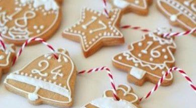 Biscotti come calendario dell'avvento