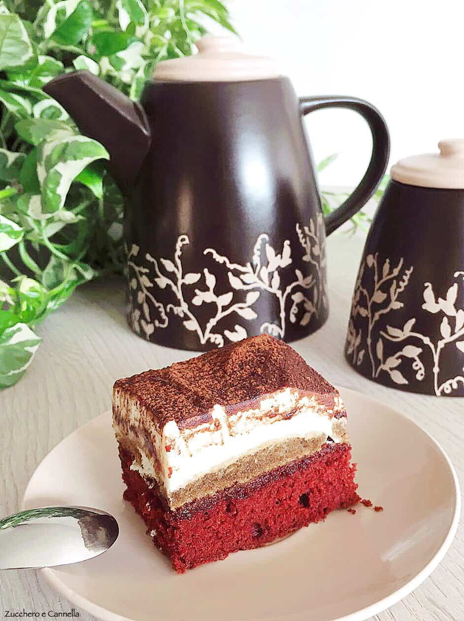 Brownies red velvet e Tiramisù