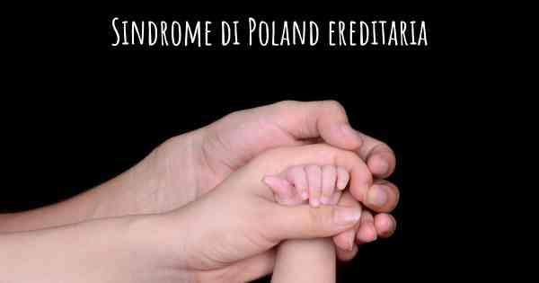 sindrome di poland