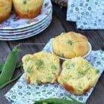 muffin primaverili con piselli