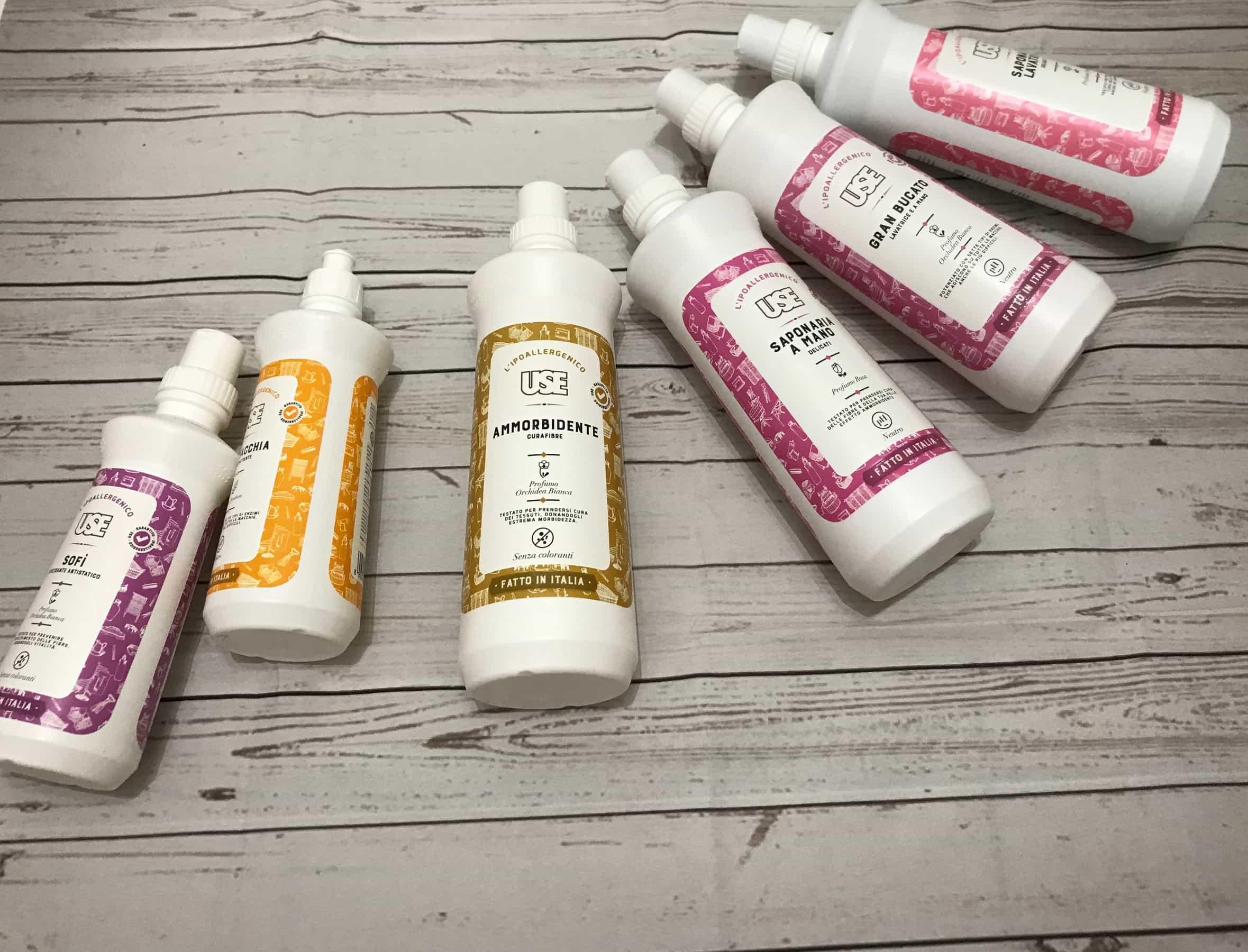 Prodotti USE – Detergenti ipoallergenici per la casa