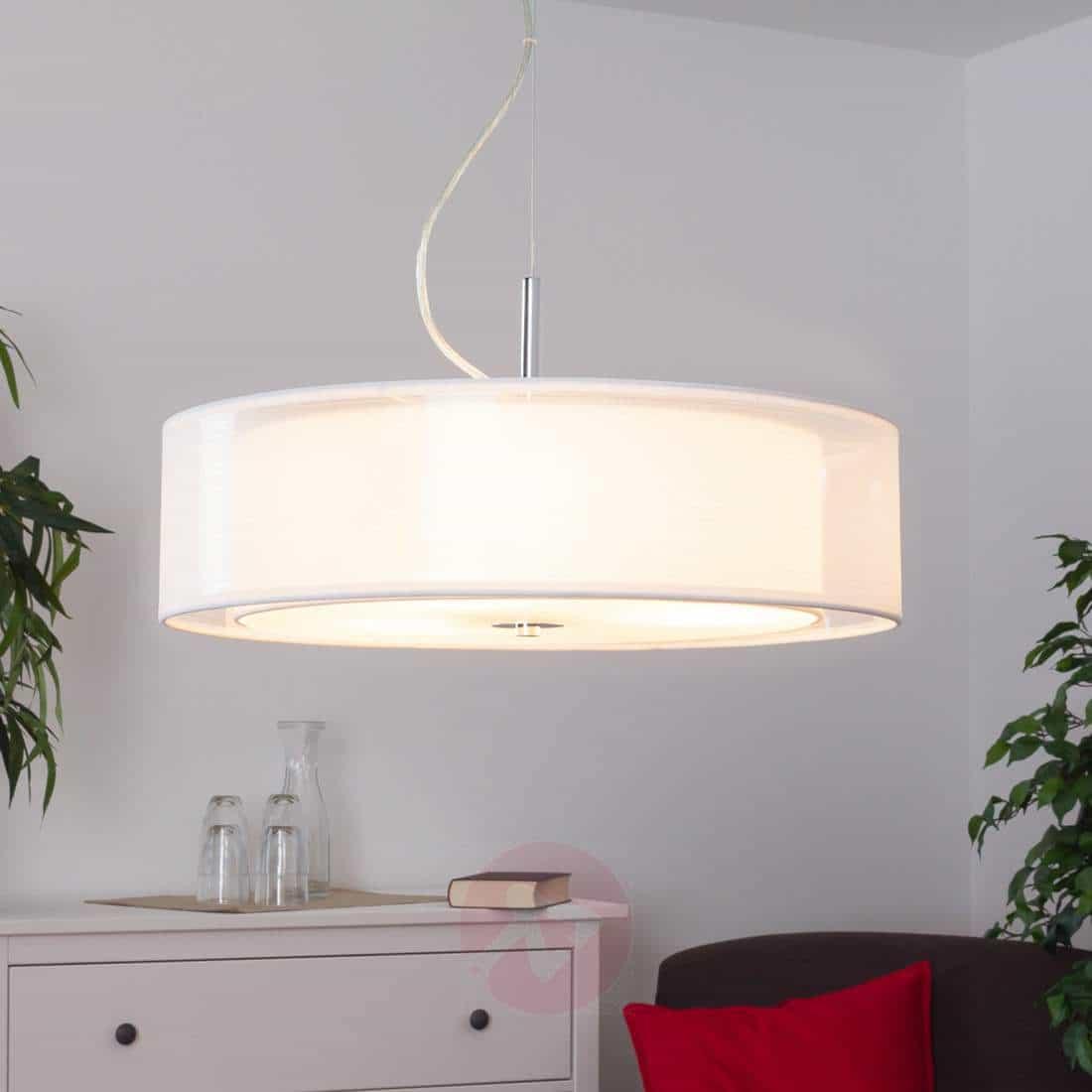 Pikka – lampada a sospensione in tessuto LED E27