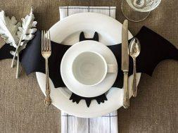 tavola halloween pipistrello