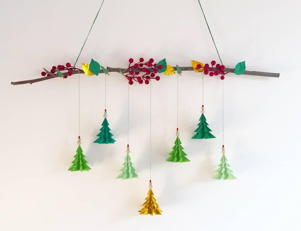 Alberi Di Natale In Legno Da Parete : Come fare alberi di natale da parete con gli origami