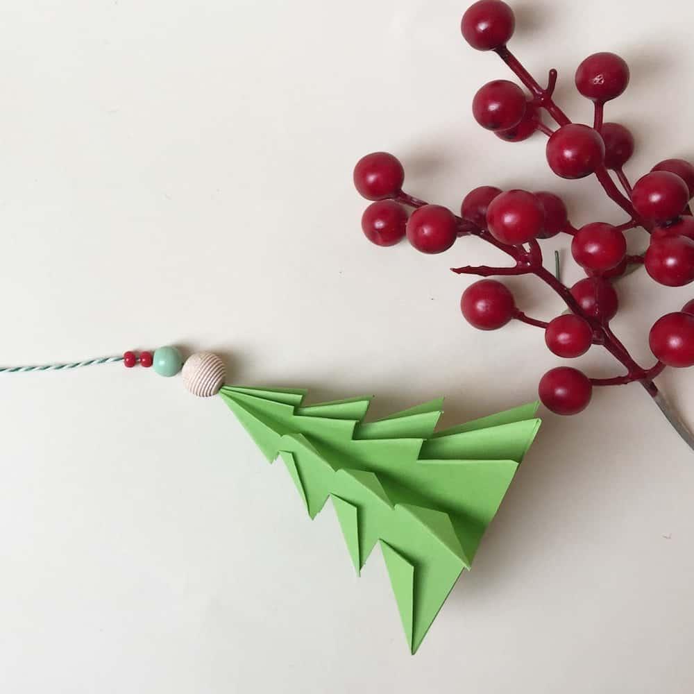origami albero di natale istruzioni