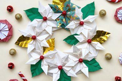 centrotavola-natale-origami-diy