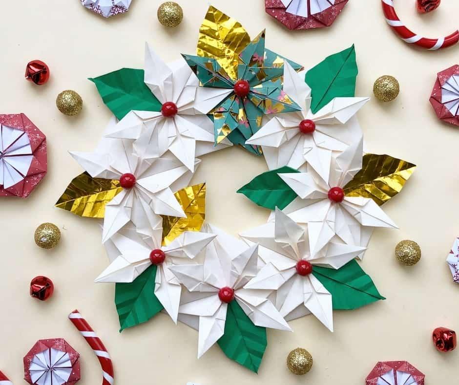 Centrotavola natalizio fai da te con gli origami