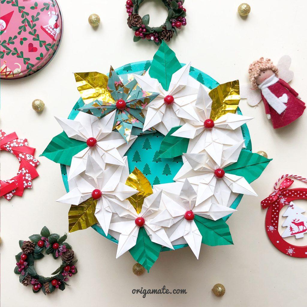 tutorial-centrotavola-natalizio-origami