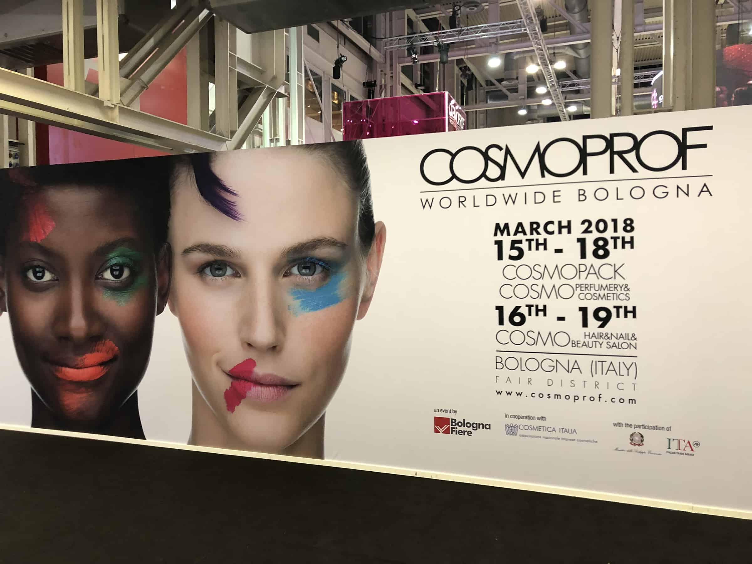 Cosmoprof 2018: salone internazionale della cosmetica e del mondo beauty.