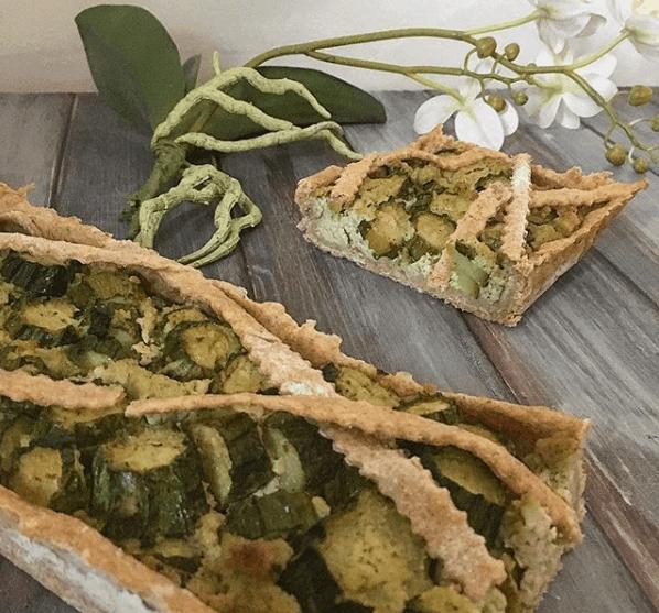 Torta salata con mandorella e zucchine
