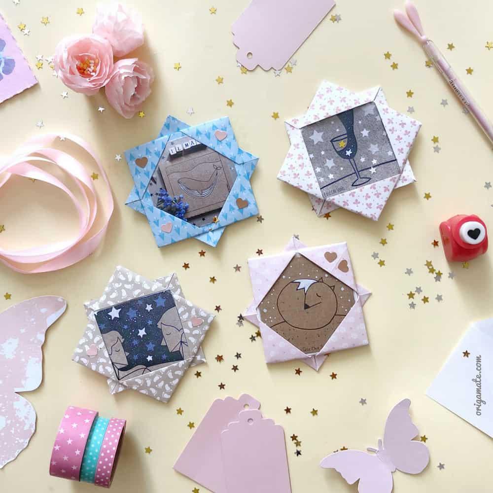 Tutorial cornice portafoto origami