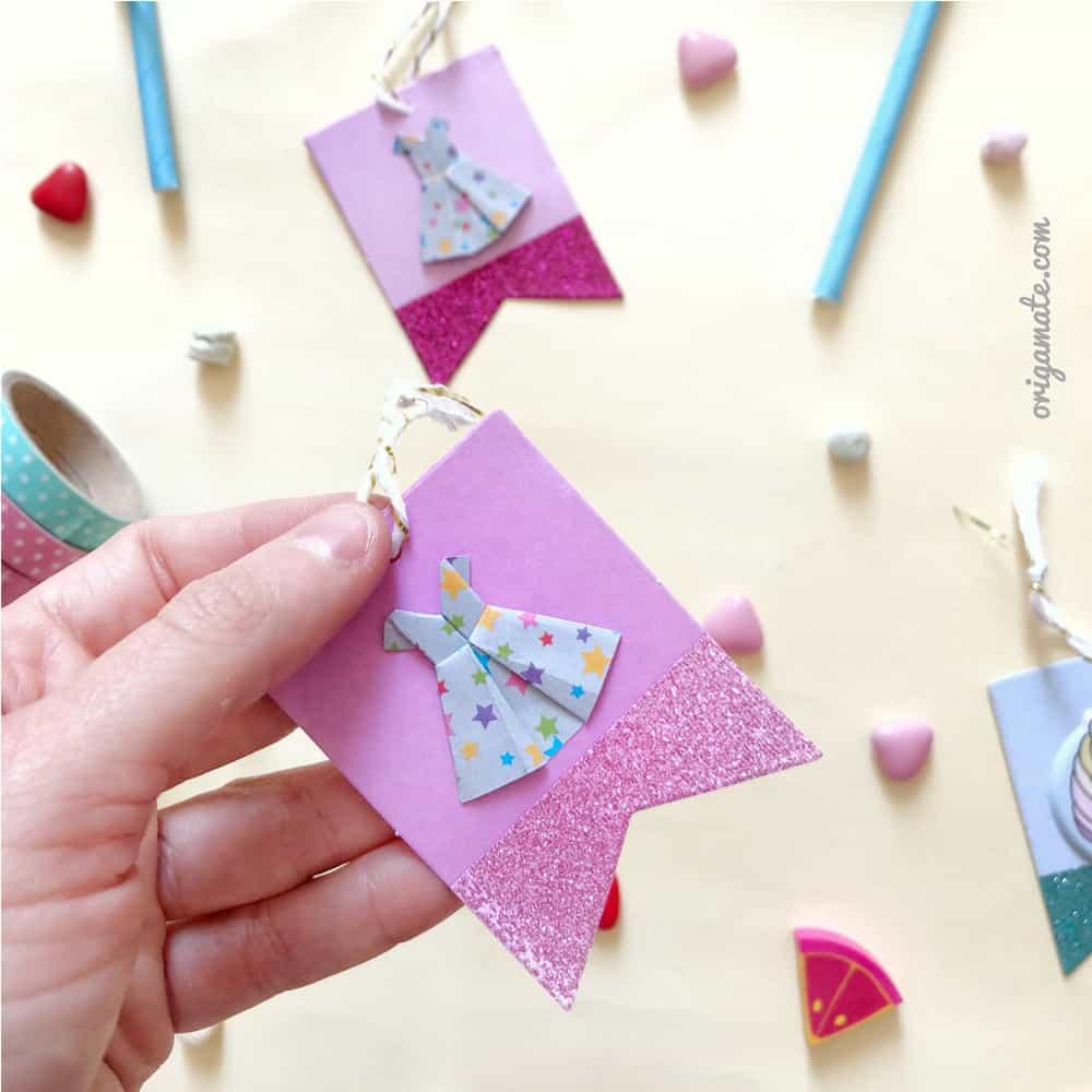 tutorial vestitini origami