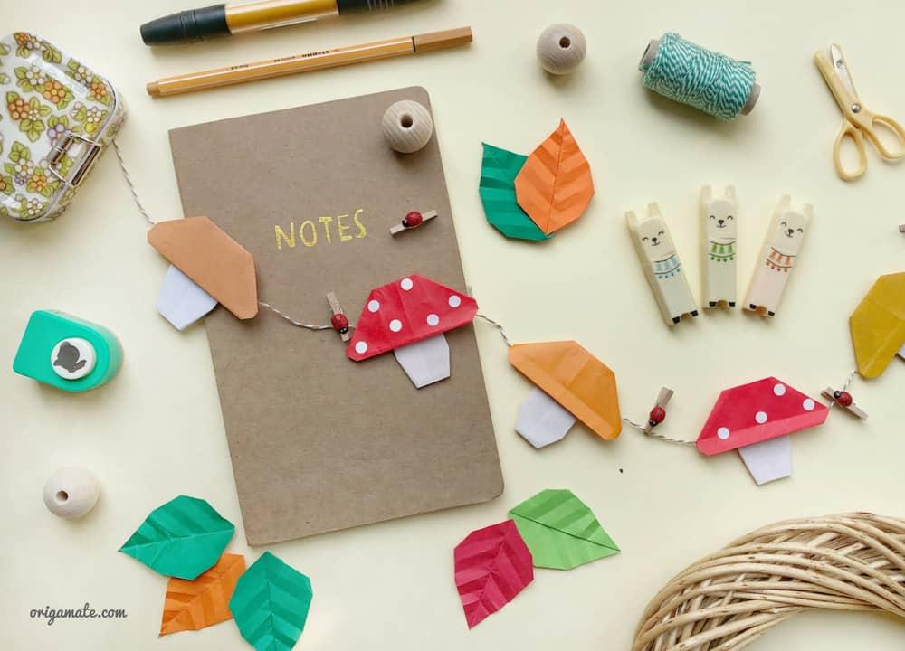 Funghi origami: come realizzarli e come usarli per le decorazioni autunnali