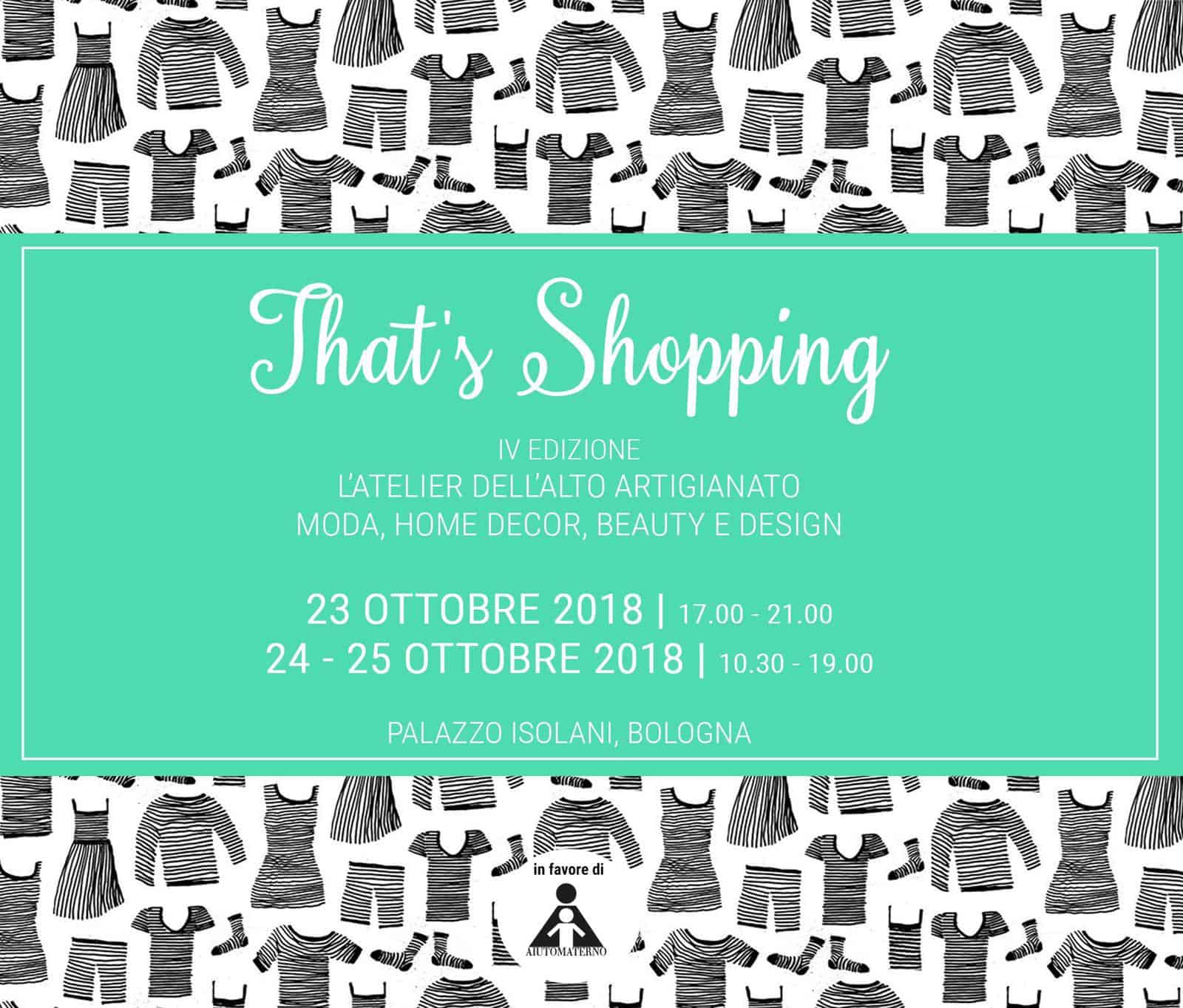 Beneficenza è: that's shopping