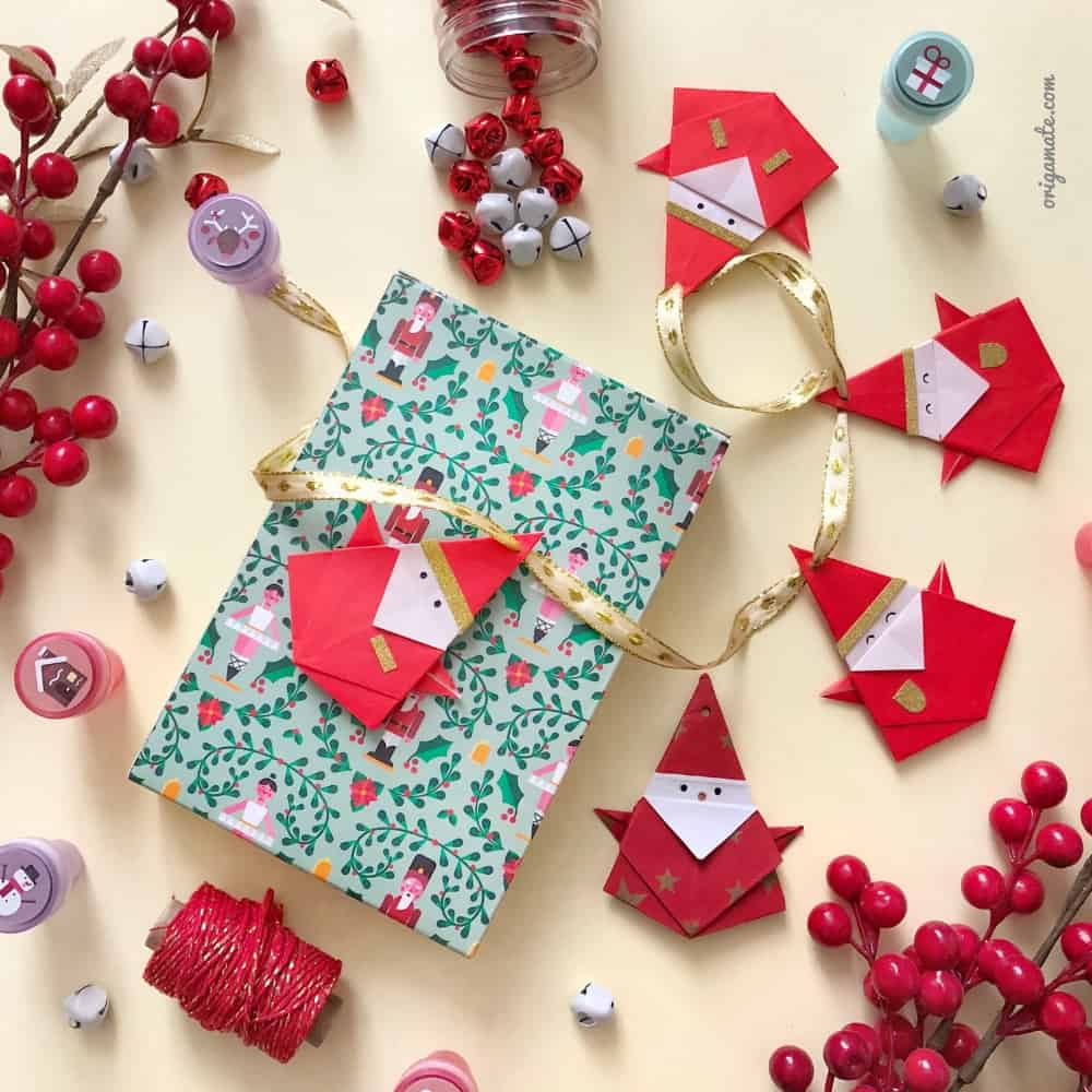 Babbo Natale origami  ecco un tutorial su come realizzarlo 0df9c82977fa