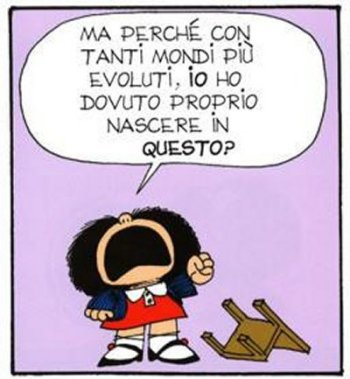 Mafalda è arrivata in Italia