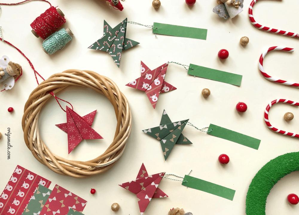 Come fare bellissimi segnaposto di Natale con gli origami