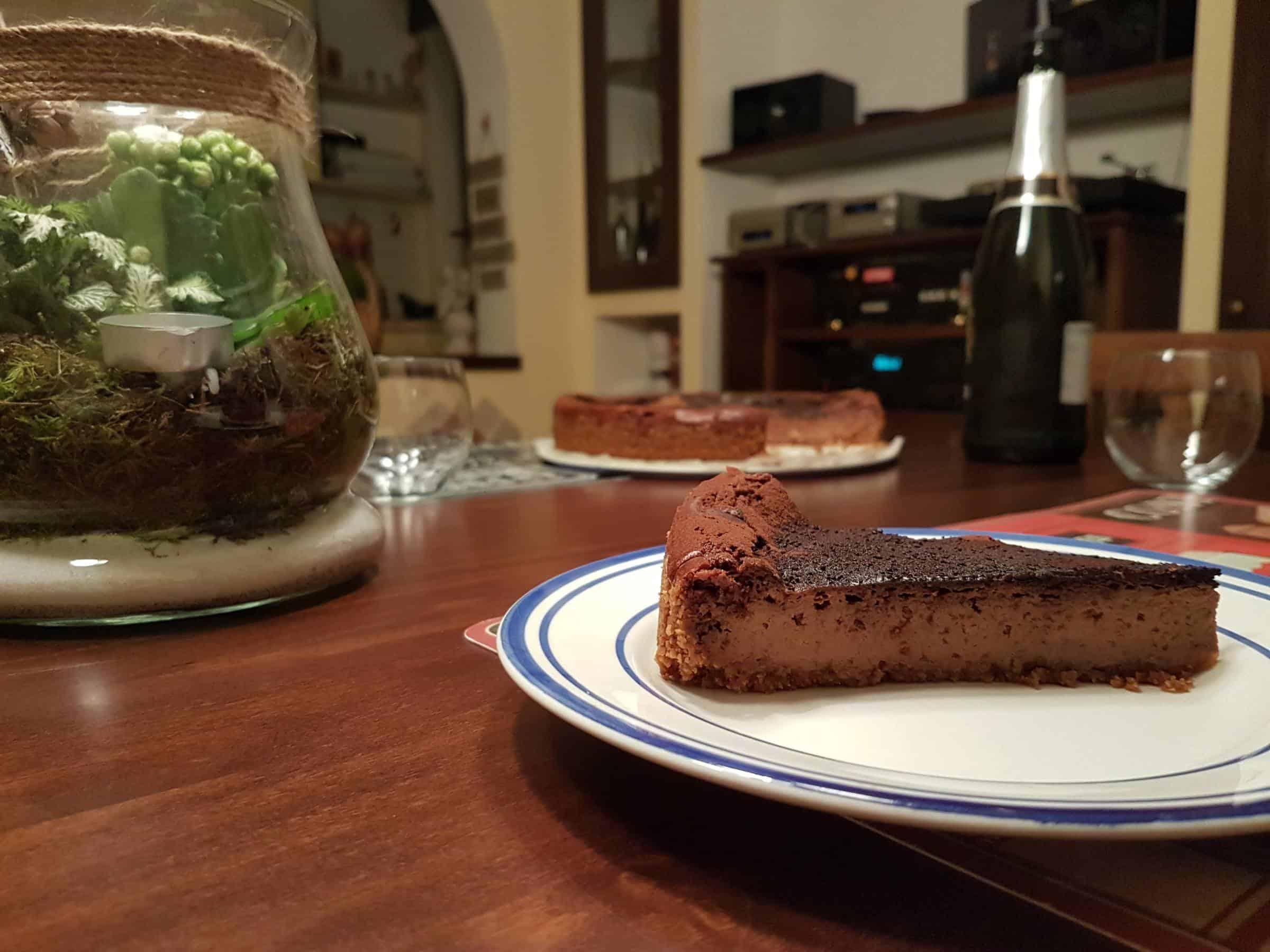 Cheesecake al cioccolato al profumo di zenzero