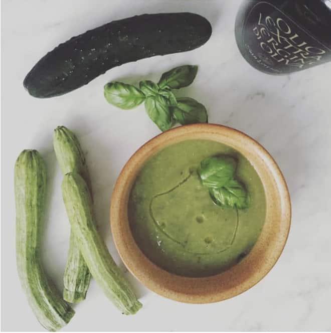 Crema di zucchine e basilico