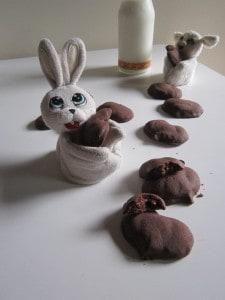 Cuoricini di frolla al cacao ripieni di nutella