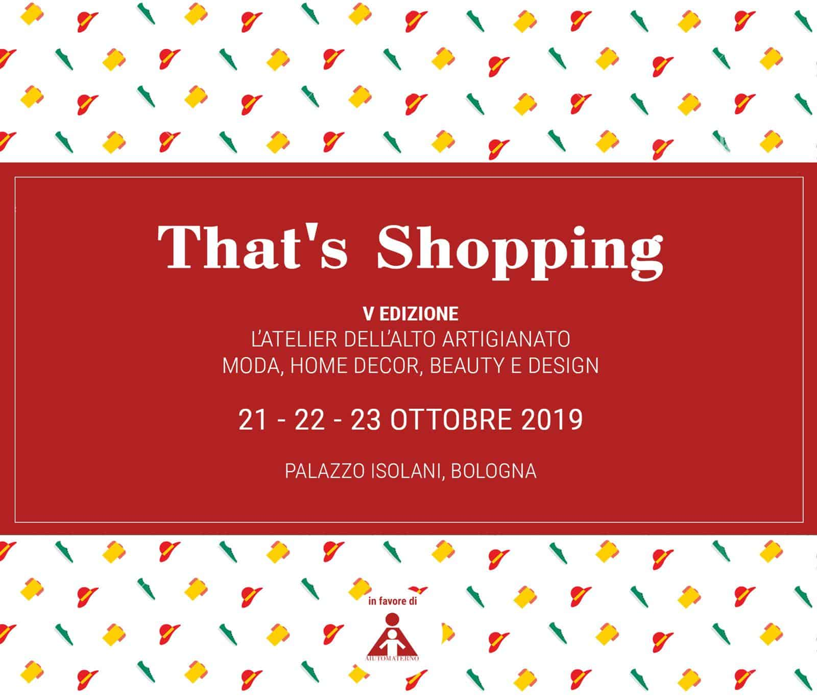 That's Shopping vuol dire fare beneficenza con l'Aiuto Materno