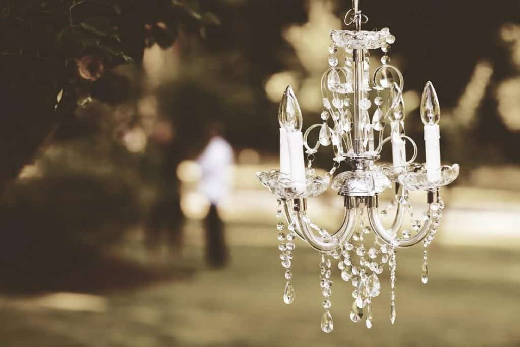 Il lampadario in cristallo