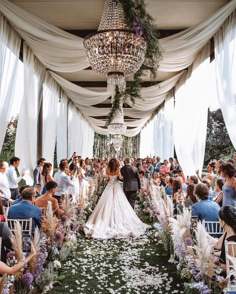Erba delle Pampas al matrimonio di Paola Turani