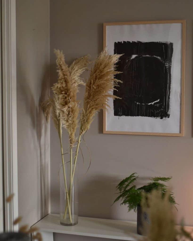 Decorazioni con erba delle Pampas