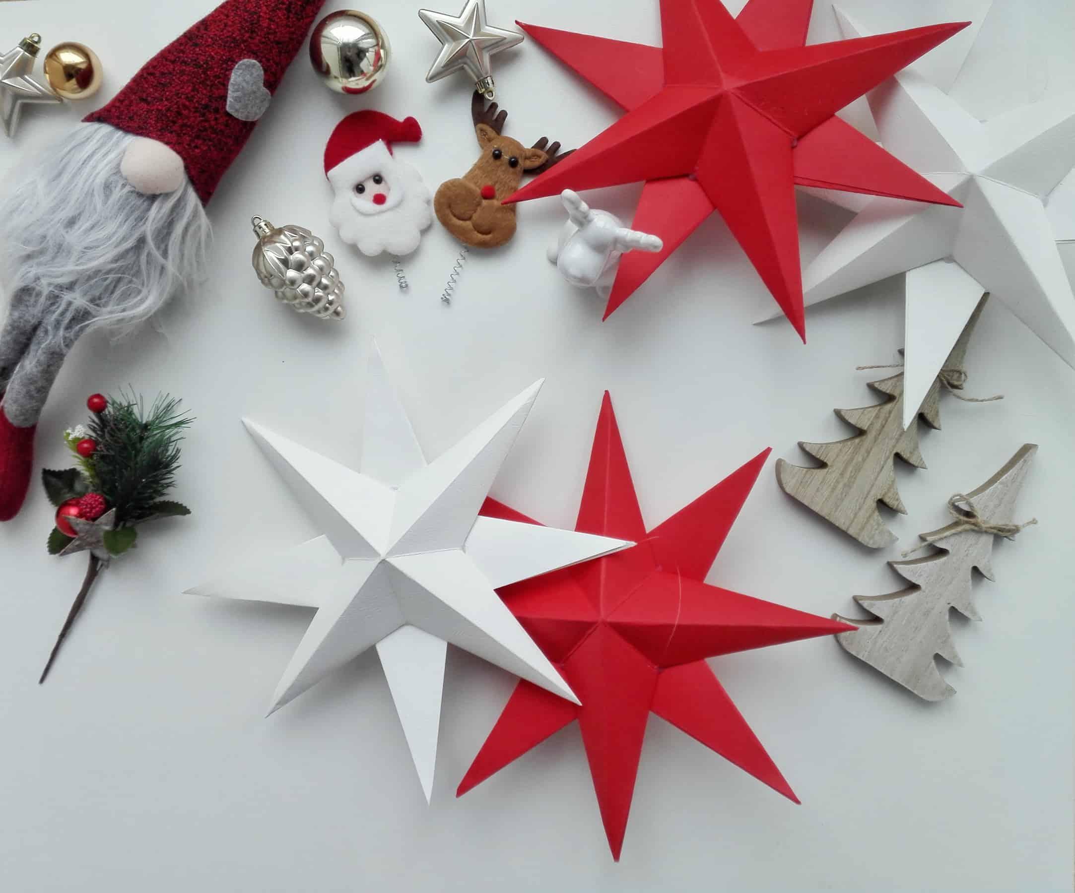 Tutorial fotografico per creare stelle natalizie