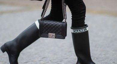 stivali da pioggia chanel