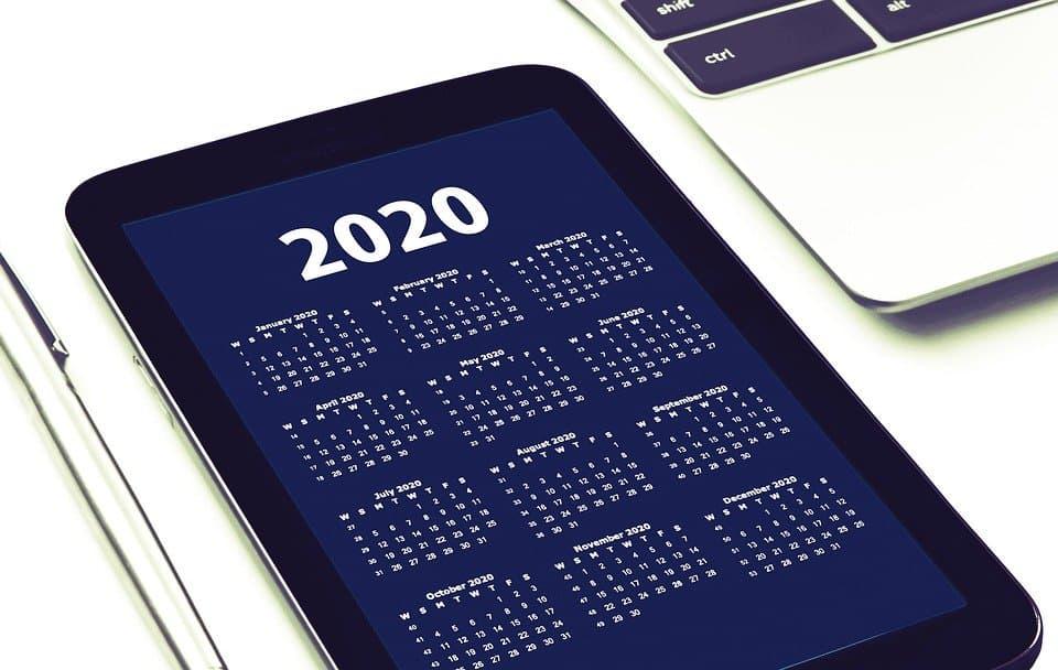 Calendario delle festività e vacanze 2020