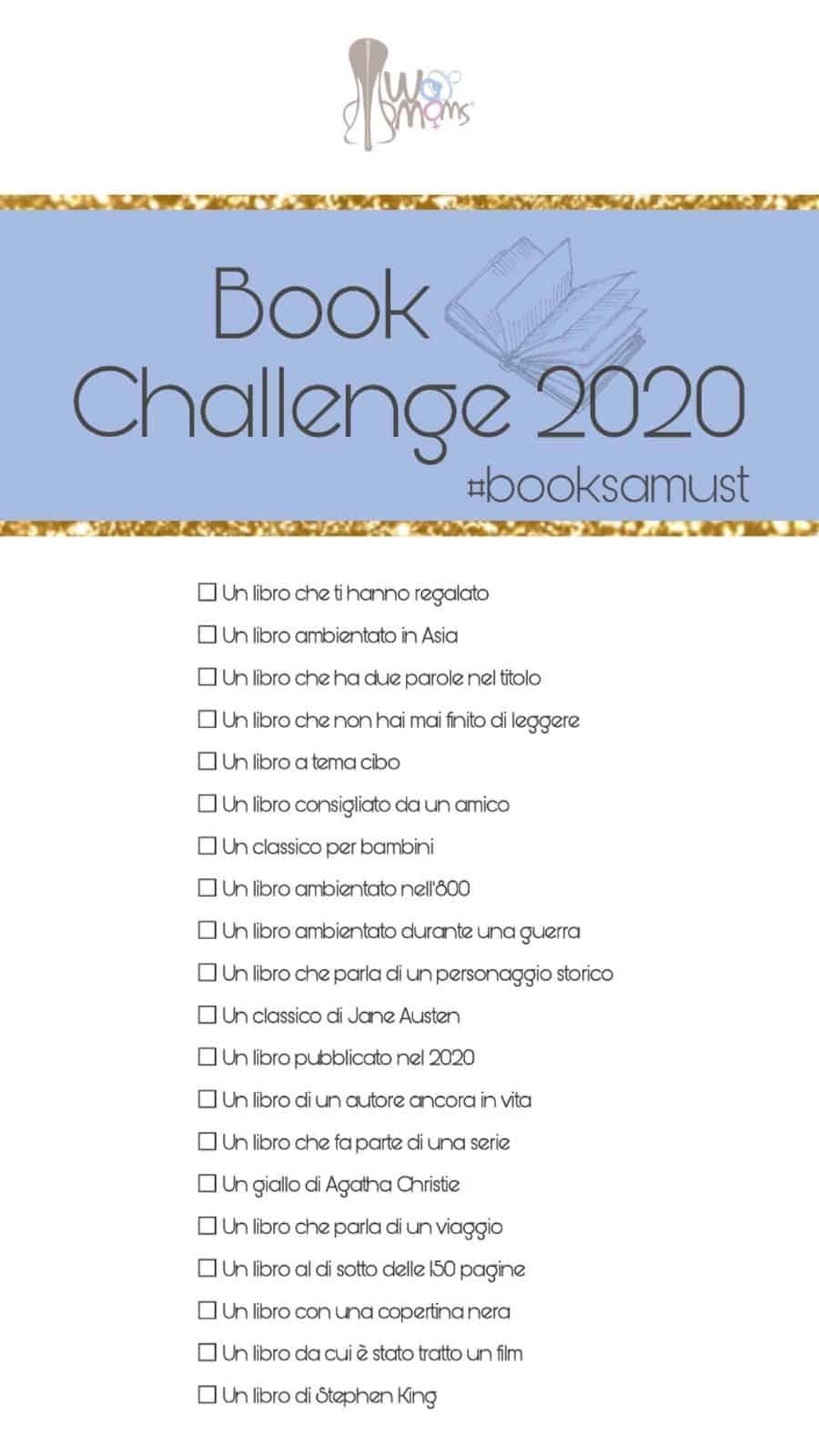 Womoms Book Challenge 2020, la nostra sfida!